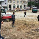 Incident na Trgu republike, Bastać blokirao radove (FOTO) 4