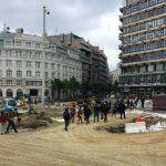 Incident na Trgu republike, Bastać blokirao radove (FOTO) 3
