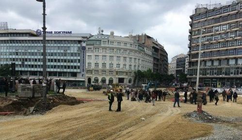 Incident na Trgu republike, Bastać blokirao radove (FOTO) 9