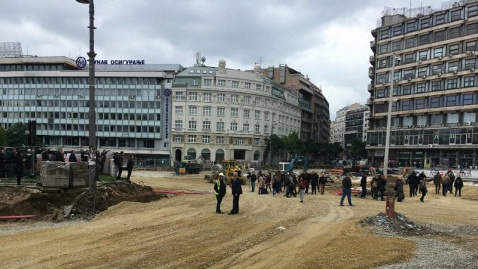 Incident na Trgu republike, Bastać blokirao radove (FOTO) 1