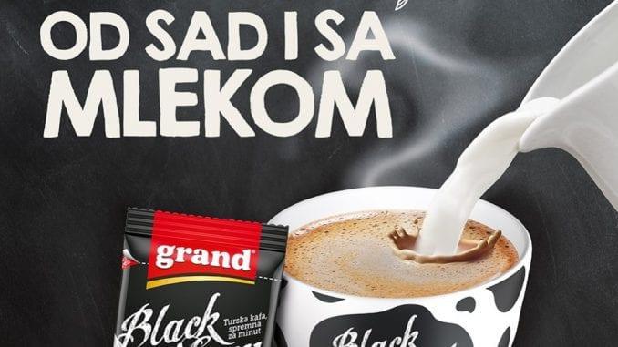 Grand kafa razvila tursku kafu s mlekom spremnu za minut 1