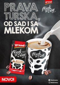 Grand kafa razvila tursku kafu s mlekom spremnu za minut 2