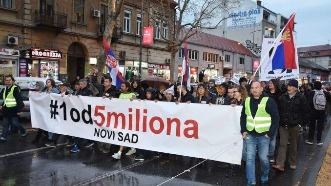 Protesti protiv vlasti u Novom Sadu 1