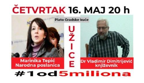 """Protest """"1 od 5"""" miliona 16. maja u Užicu, govore Marinika Tepić i Vladimir Dimitrijević 8"""