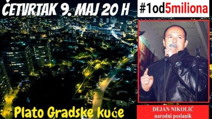 """Novi protest """"1 od 5 miliona"""" u Užicu 9. maja 1"""
