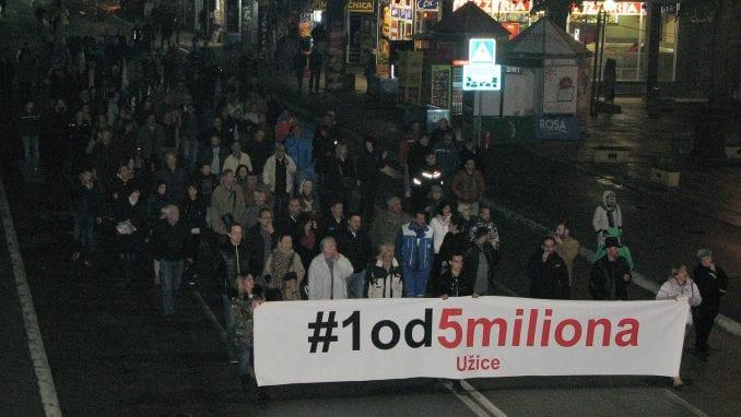 Novi protest Jedan od pet miliona večeras u Užicu 1