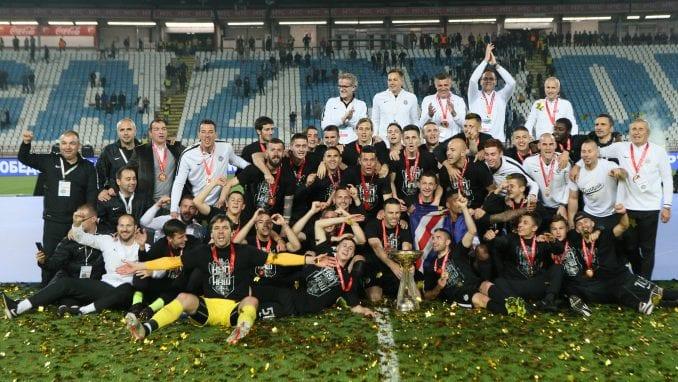 Fudbaleri Partizana osvojili novi trofej Kupa Srbije 1