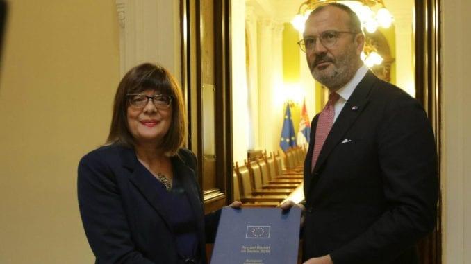 Gojković na sastanku sa Fabricijem: Zašto je SZS u izveštaju Evropske komisije? 5