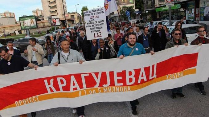 U Kragujevcu 24. protest protiv Vučićeve i gradske vlasti, idući put i partije (VIDEO) 1