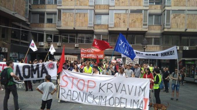 Protest protiv privatnih izvršitelja u Beogradu 1