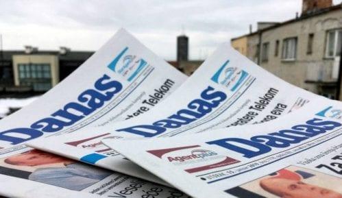 TS: Kritike na račun Vučića i SNS-a u štampi samo na naslovnim stranama Danasa 5