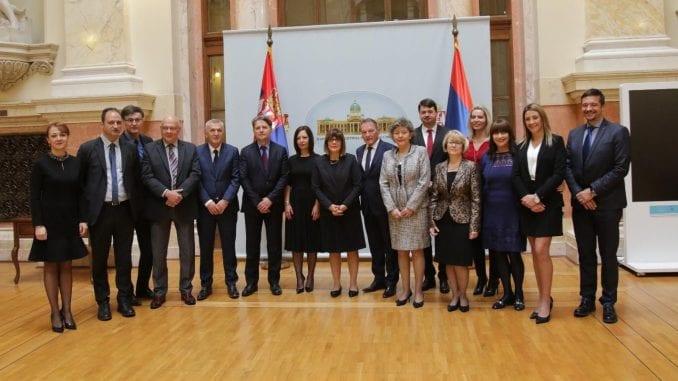 Novoizabrane sudije Ustavnog suda položile zakletvu pred Gojkovićevom 3