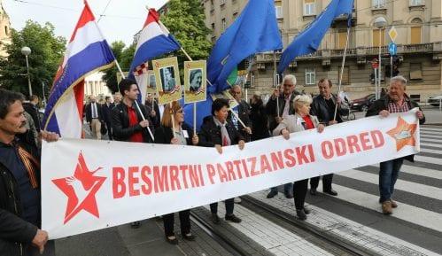 """Marš """"Besmrtnog partizanskog odreda"""" u Zagrebu 3"""
