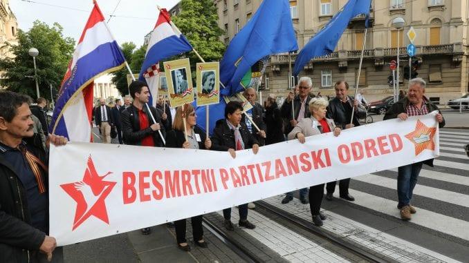 """Marš """"Besmrtnog partizanskog odreda"""" u Zagrebu 1"""