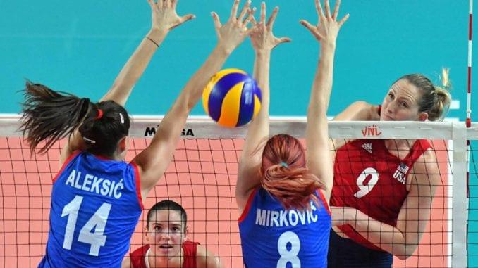 Odbojkašice Srbije poražene od SAD 1