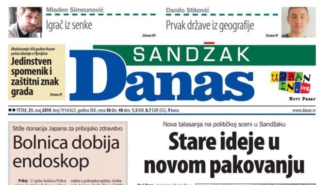 Sandžak Danas – 31. maj 2019. 1