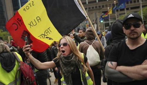 Nasilje na protestu Žutih prsluka u Briselu 8