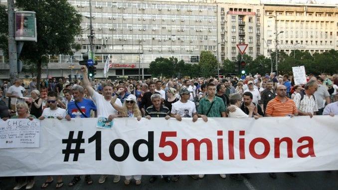 """Udruženje """"1 od 5 miliona"""" za bojkot izbora 5"""