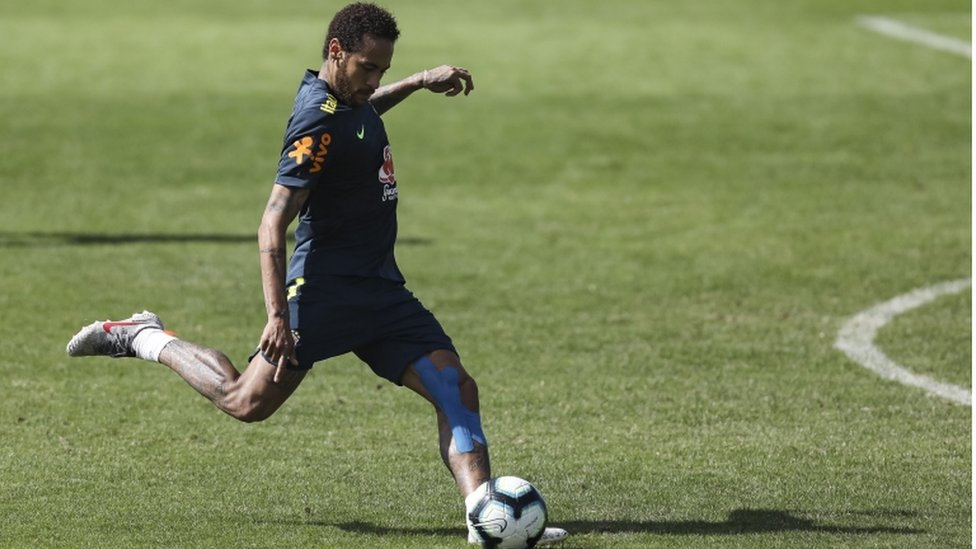 Neymar at the Granja Comary training complex on 1 June 2019 in Teresopolis, Brazil