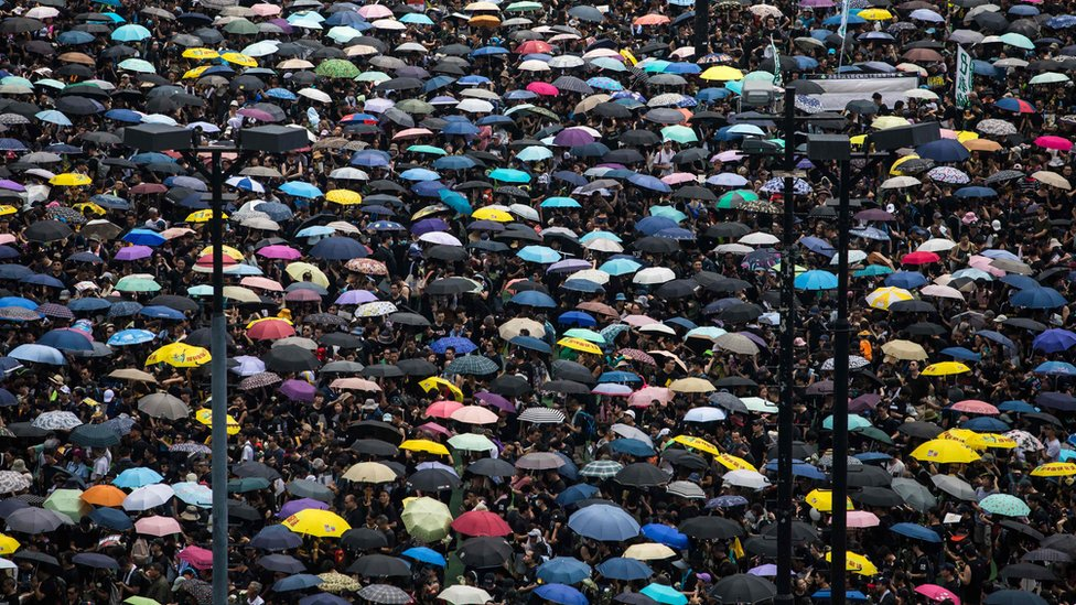 Demonstranti u Honkgongu.