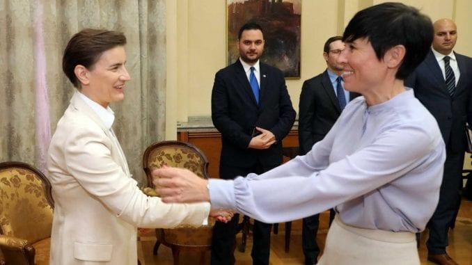 Brnabić i Soreide razgovarale o odnosima Srbije i Norveške 1