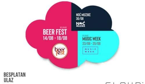 Besplatan ulaz na tri muzička festivala u avgustu na Ušću: Belgrade Beer Fest, Belgrade Music Week i Noć muzike 5