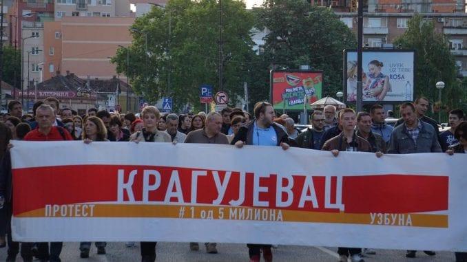Protest u Kragujevcu: Srbiji ne treba čvrsta, nego čista ruka 2