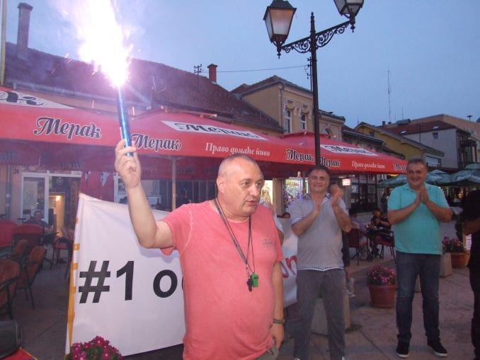 """Negotin: Na 14. protestu """"1 od 5 miliona"""" upaljena """"baklja slobode"""" 1"""