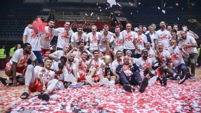 Crvena zvezda šampion Srbije u košarci 1