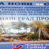 Novi Sad: SZS protiv izgradnje u Limanskom parku 9