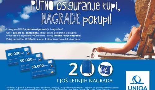 UNIQA putno osiguranje kupi - nagrade pokupi 11