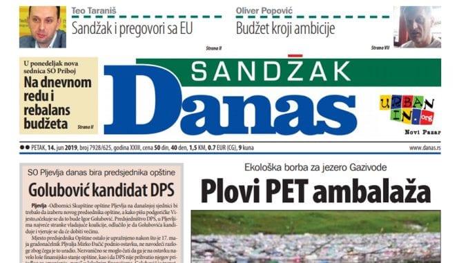 Sandžak Danas – 14. jun 2019. 1