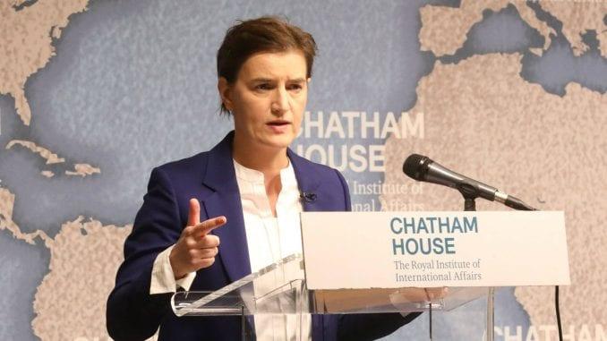 Brnabić u Londonu: Srbija pripada EU, nemamo plan B 1