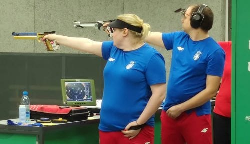 Srebro za srpski miks pištoljem na Evropskim igrama u Minsku 12