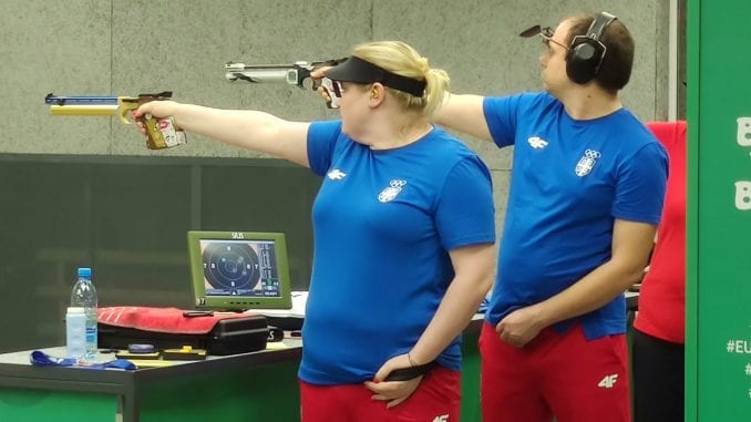 Srebro za srpski miks pištoljem na Evropskim igrama u Minsku 1