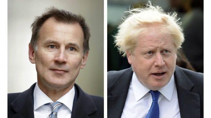 Džonson i Hant jedini kandidati za lidera britanskih konzervativaca i vlade 1
