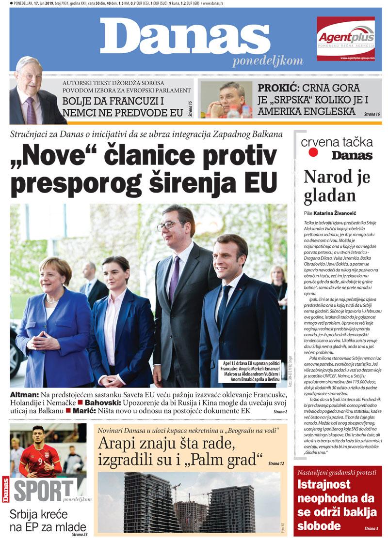 Naslovna strana za 17. jun 2019. 1