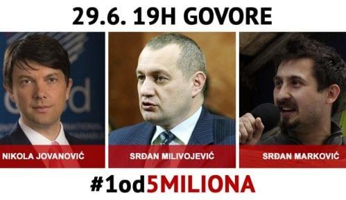 """Trideseti protest """"1 od 5 miliona"""" u Beogradu 29. juna (MAPA ŠETNJE) 12"""