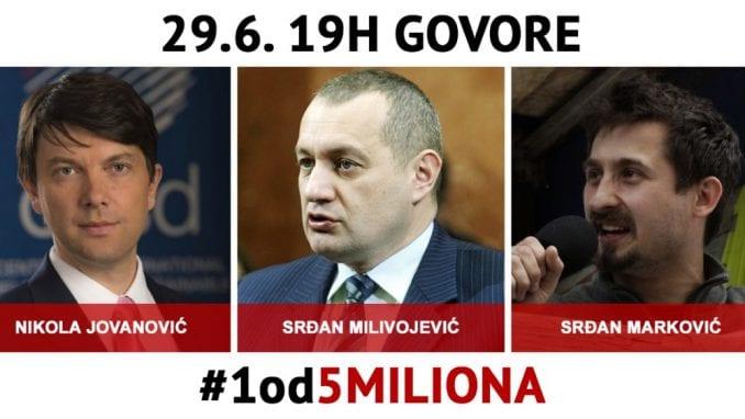 """Trideseti protest """"1 od 5 miliona"""" u Beogradu 29. juna (MAPA ŠETNJE) 1"""