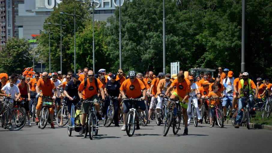 Šesta Narandžasta biciklistička vožnja 8. juna u Beogradu 1
