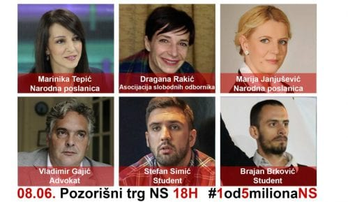 Sutra na protestu u Novom Sadu i ženski ogranak evropskih socijalista 3