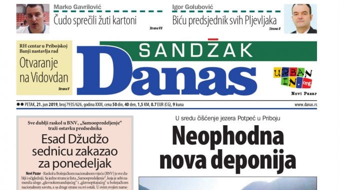 Sandžak Danas - 21. jun 2019. 1