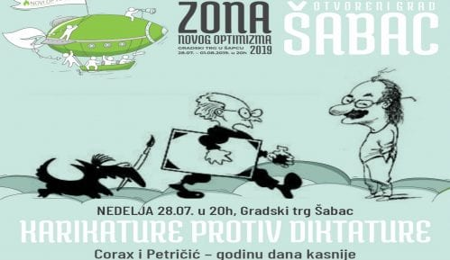 """Novi Optimizam: U slučaju kiše izložba i tribina """"Karikature protiv diktature"""" u Šabačkom pozorištu 15"""
