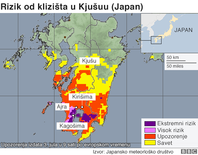 Jaka kiša u Japanu izazvala evakuaciju više od milion ljudi 3