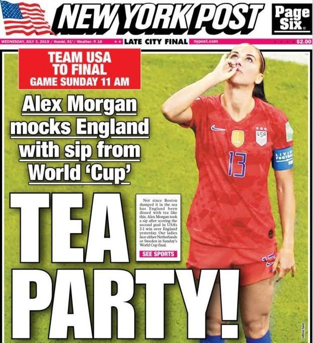 Cover of American newspaper