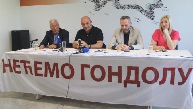 GDF predao peticiju sa zahtevom da se odustane od gondole 3