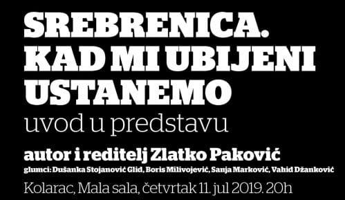 Pozorišni performans u Beogradu na Dan sećanja na genocid u Srebrenici 8