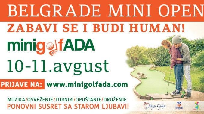 Turnir u mini-golfu na Adi Ciganliji 10. i 11. avgusta 2