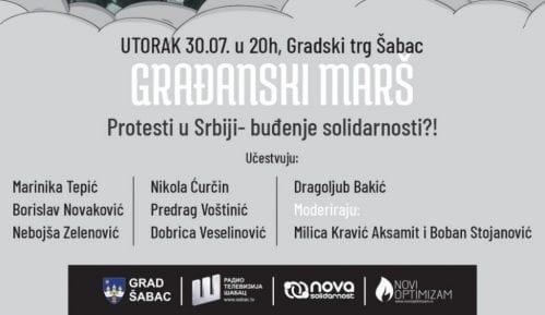 Nastavlja se Zona novog optimizma u Šapcu raspravom o protestima u Srbiji 15