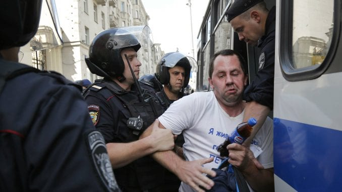 U Moskvi privedeno oko 30 osoba zbog samostalnih protesta 3